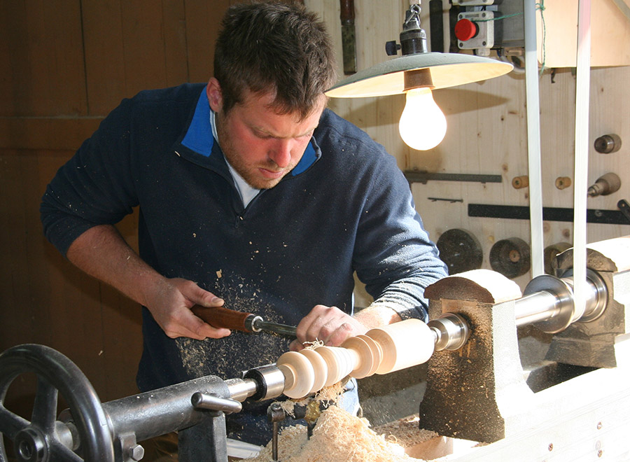 creusage bois tournage
